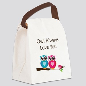 owl10 Canvas Lunch Bag