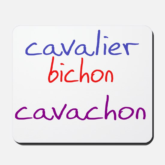 cavachon_black Mousepad
