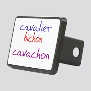 cavachon_black Rectangular Hitch Cover