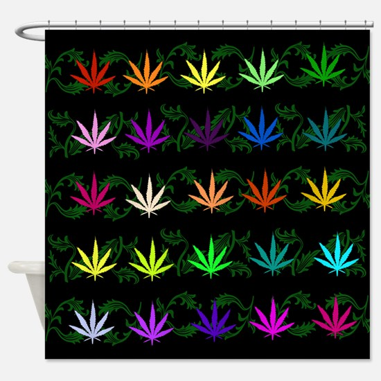 Rainbow Weed Garden Shower Curtain
