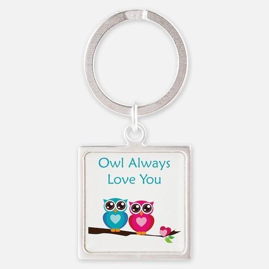 owl11 Square Keychain