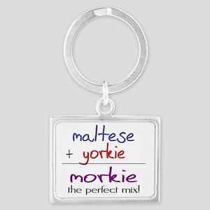 morkie Landscape Keychain