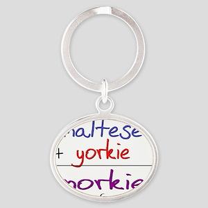 morkie Oval Keychain