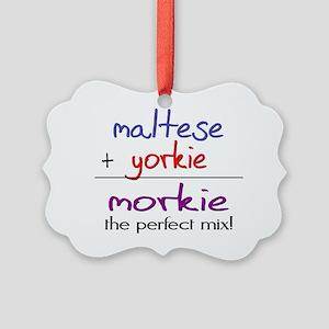 morkie Picture Ornament