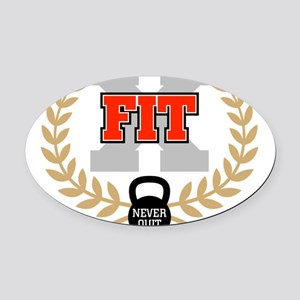 crossfit cross fit champion light Oval Car Magnet