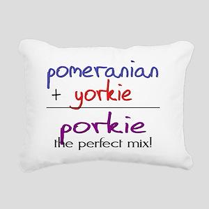 porkie Rectangular Canvas Pillow
