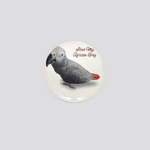 African Grey Mini Button