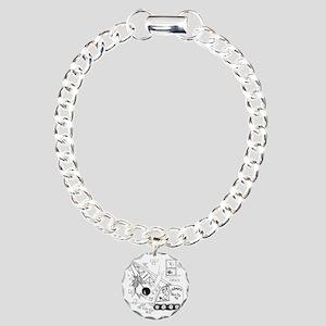 6401_demolition_cartoon_ Charm Bracelet, One Charm