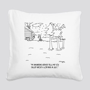 6403_landscaping_cartoon Square Canvas Pillow
