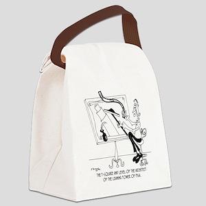6409_architect_cartoon Canvas Lunch Bag