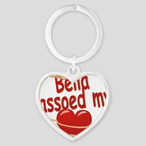 bella-g-lassoed Heart Keychain