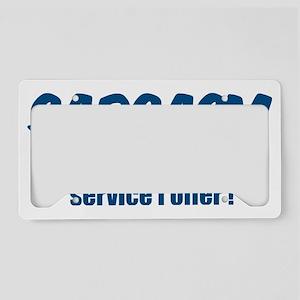 funnysayings17 License Plate Holder