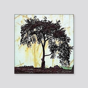 "tree art Square Sticker 3"" x 3"""
