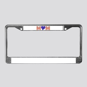 USA Mom License Plate Frame