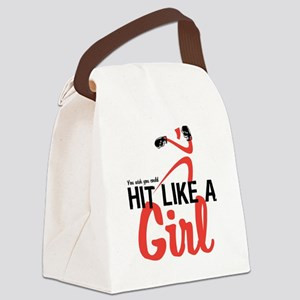 HitLikeAGirl Canvas Lunch Bag