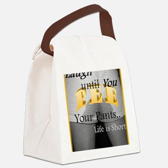Pee Pee Chuckle Tees Canvas Lunch Bag