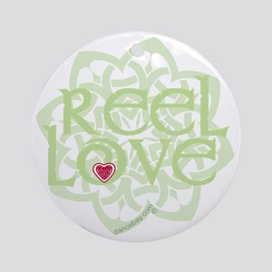 dark reel love for irish dance with Round Ornament
