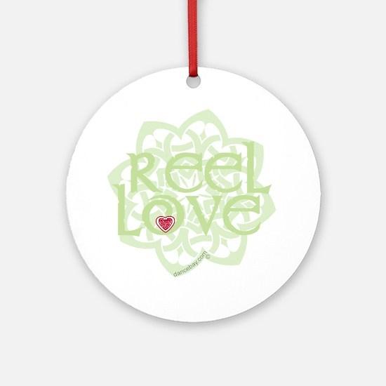 dark reel love for irish dance with Round Ornament