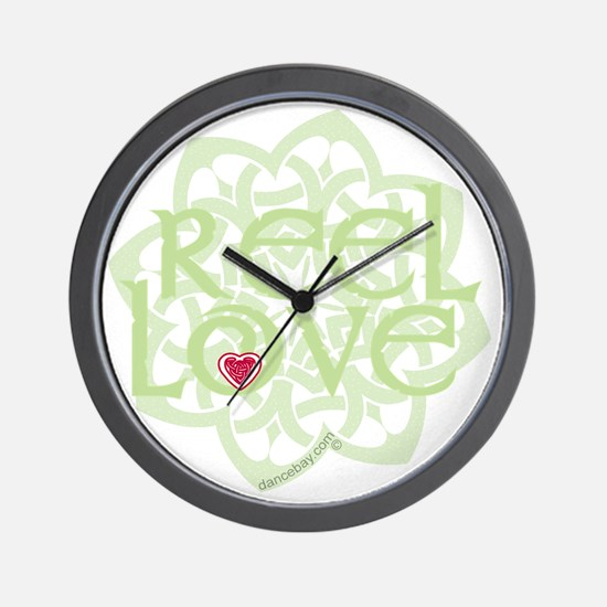 dark reel love for irish dance with hea Wall Clock