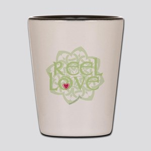 dark reel love for irish dance with hea Shot Glass