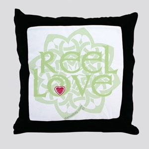 dark reel love for irish dance with h Throw Pillow