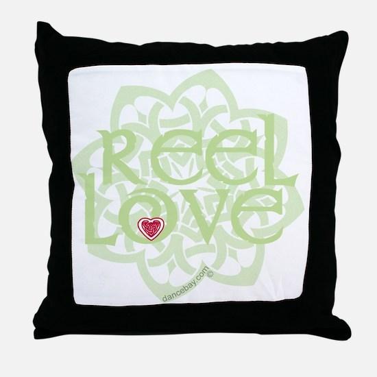 dark reel love for irish dance with h Throw Pillow