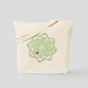 dark reel love for irish dance with heart Tote Bag