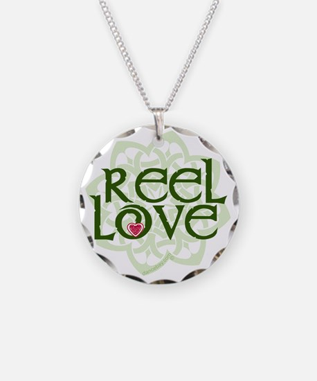 reel love for irish dance wi Necklace Circle Charm
