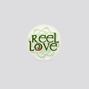 reel love for irish dance with heart a Mini Button