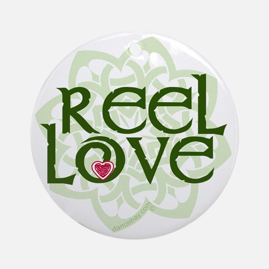 reel love for irish dance with hear Round Ornament