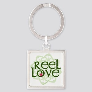 reel love for irish dance with hea Square Keychain