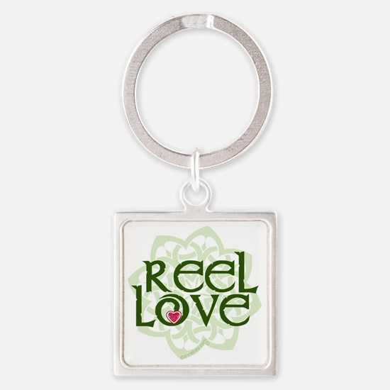 reel love for irish dance with hea Square Keychain