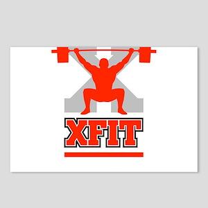 Crossfit Cross Fit Champion Lifter Dark Postcards