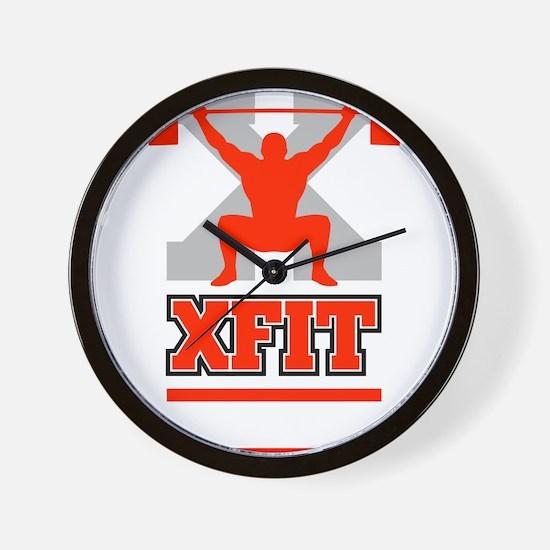 Crossfit Cross Fit Champion Lifter Dark Wall Clock