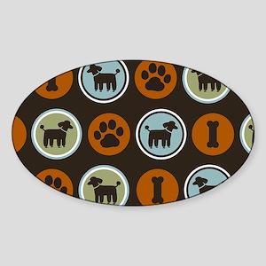 poodlesclutch Sticker (Oval)