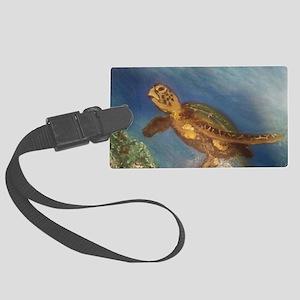 Sea Turtle  Large Luggage Tag