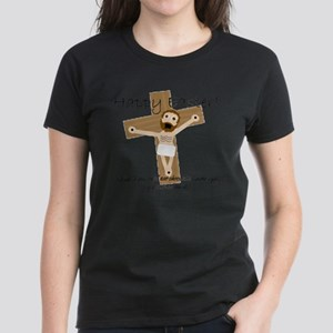 Happy Easter Jesus! Women's Dark T-Shirt