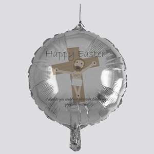 Happy Easter Jesus! Mylar Balloon
