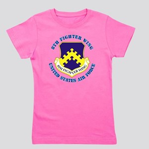 8th-Fighter-Wing-txt Girl's Tee