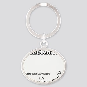 Checkmate Oval Keychain