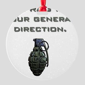 Frag Round Ornament
