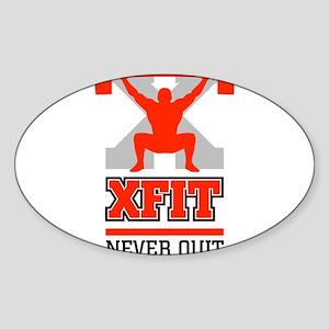 crossfit cross fit champion lifter light Sticker