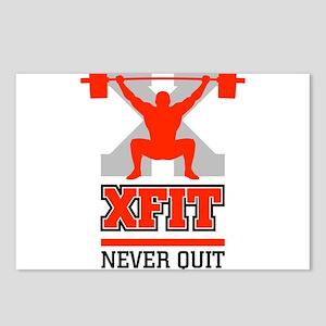 crossfit cross fit champion lifter light Postcards