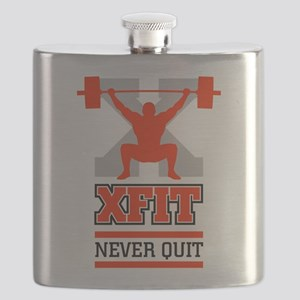 crossfit cross fit champion lifter light Flask