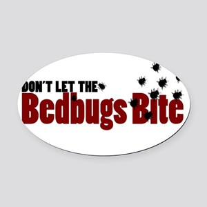 Bedbugs Oval Car Magnet