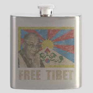 VintageFreeTibe6Bk Flask