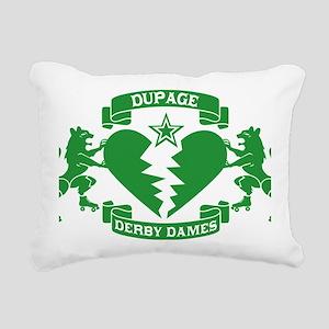 GREEN_DDD_LOGO_edit Rectangular Canvas Pillow
