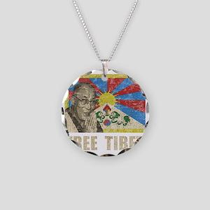 VintageFreeTibe6Bk Necklace Circle Charm