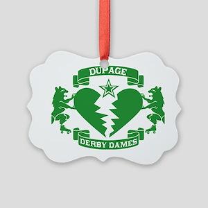 GREEN_DDD_LOGO_edit Picture Ornament