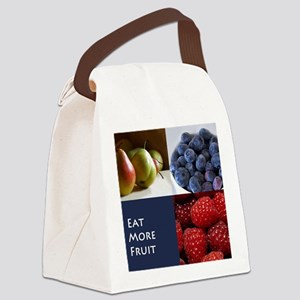 Eat More Fruit Canvas Lunch Bag